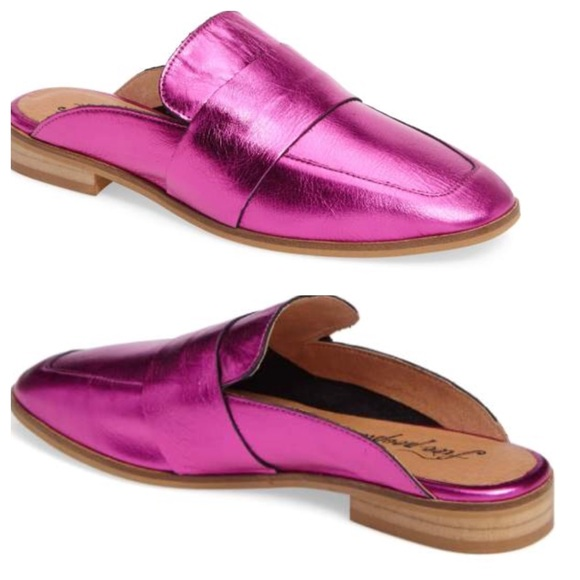 3ee753bdf77 Free People Shoes - Free People At Ease Loafer Mule Metallic Pink NEW